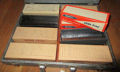 VINTAGE Slide Magazine Trays Slide Holders & CARRYING CASE w Handle YANKEE 2