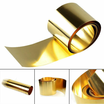 0.02 x 100 x 1000mm Brass Metal Thin Sheet Foil Plate Roll 1PC Metalworking Supp