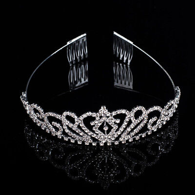 Wedding Bridal Tiara Crown Crystal Rhinestone Party Jewelry Comb  Prom Headband