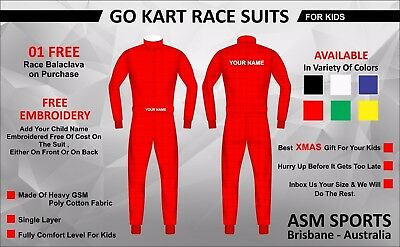 Go Karting Race Suit Childs / Kids Size with Free Embroidery