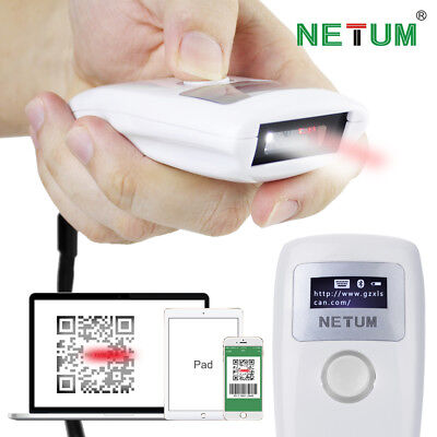 NETUM NT-Z2S Handheld Bluetooth 2D Barcode Scanner Reader for Android & iPhone