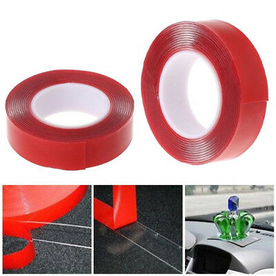 3M Red Double Sided Tape Adhesive High Strength Acrylic Gel Transparent Car Fix