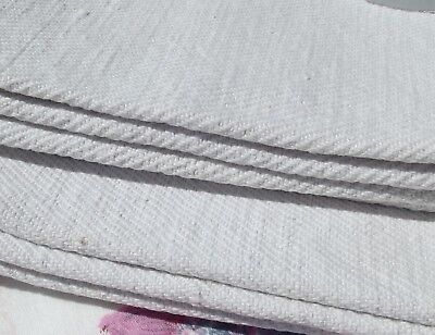 Antique French Linen Cloth Pure Handwoven 19th century Twill Fabric