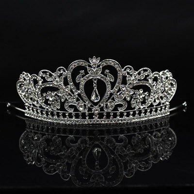 Women Crystal Rhinestone Wedding Bridal Diamante Crown Tiara Headband Hair Band