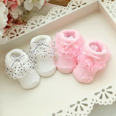 One Size Soft  Non-slip Lace Socks Suitable 0-6 Month Newborn Baby One Size