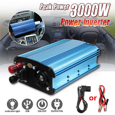 3000W Car Power Inverter 12/24/48/60V to AC 220V ModificataS ine Wave Converter