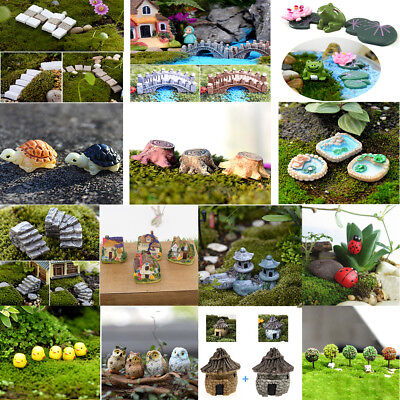 DIY Mini Miniature Fairy Garden Ornament Decor Pot Crafts Doll House Accessories
