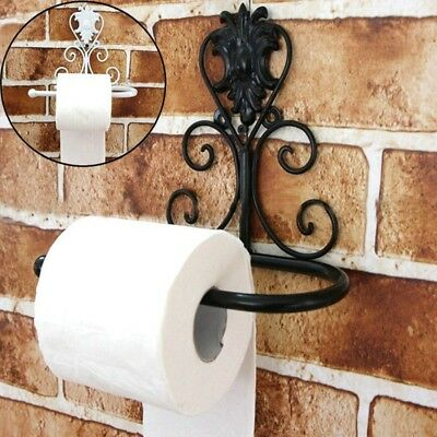 Vintage Iron Toilet Paper Towel Roll Holder Wall Mount Rack Bathroom Accessories
