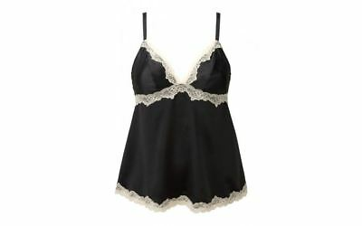 epel London - Women's Nightwear Caitlin Camisole, Black & Blush