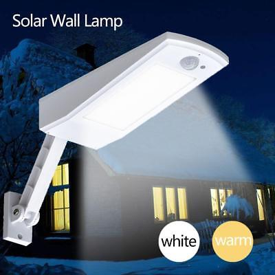 900LM Solar LED Motion Activated Wall Light Adjustable Angle Garden Street Lamp
