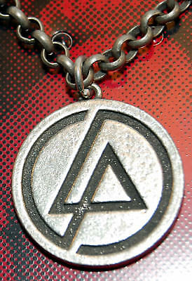 Vintage Necklace LINKIN PARK lp Pendant OFFICIAL--- NEW old stock - RARE - 2007