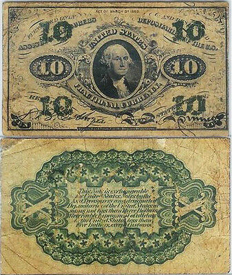 March 3,1863 10 Cent Civil War Fractional Currency