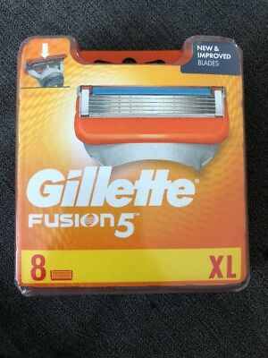 Gillette Fusion 5 XL 8 PACK BNIB SEALED UK GENUINE SELLER FREE POST
