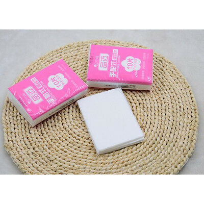 10Pc/bag Wipes Fresh Clean Paper Non-woven Cotton Pads Makeup Remover Towelettes