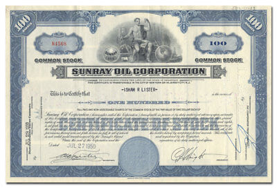 Sunray Oil Corporation Stock Certificate