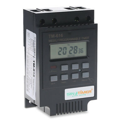 TM616 30A 12V AC Programmable Digital Timer Switch Relay Control Time Controller