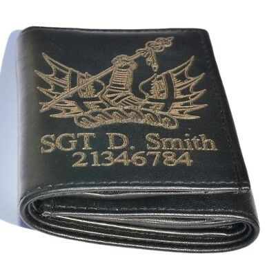 Honourable Artillery Co. Uk Army Personalised Genuine Leather Wallet Any Name/no