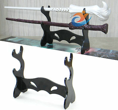 2Pcs Black Acrylic Wizarding Wand Display Stand  For Wizard Harry Potte