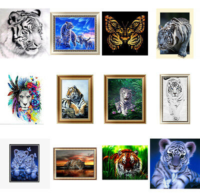 12 Arten Tiger 5D Diamant Malerei Diamond Painting Tier DIY Stickerei Kreuzstich