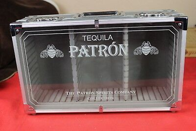 Patron Tequila Bottle Display Carrying Case With Dividers