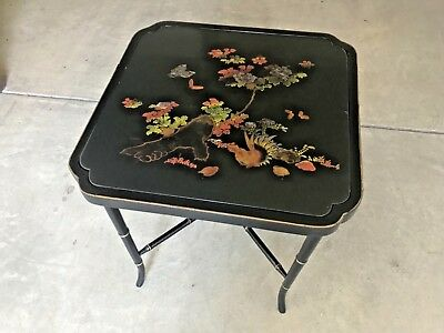 Antique Japanese lacquer table