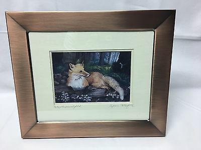Suzanne Satterfield Print The Fox and The Hummingbird Signed