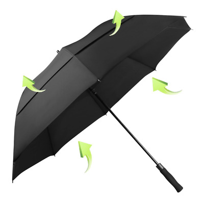 Golf Umbrella Windproof 62 Inch Oversized Double Vented Canopy Auto Open Waterpr