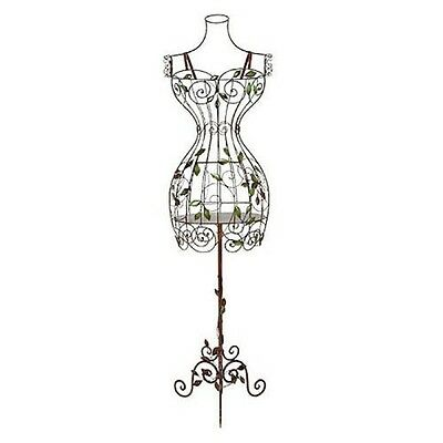 Vintage Style Wire Dress Form Mannequin Manikin Stand Metal Scrolling Display NE