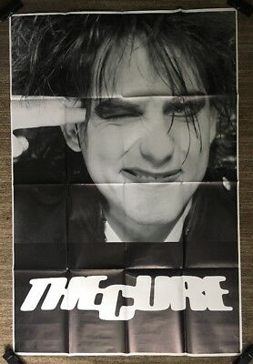 Original Vintage Poster The Cure Huge Robert Smith Pin-up 1990's Retro Headshot