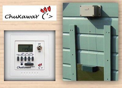 Chuxaway SCX Automatic Chicken Coop Pop Hole Opener with Timer & ALUMINIUM DOOR