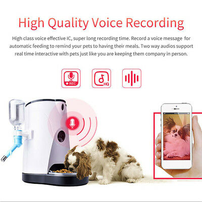Automatic Feeder pet food and water dispenser with HD camera and video
