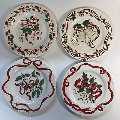 Sonoma Life Style Christmas Dessert Plates 4 Different Patterns 8