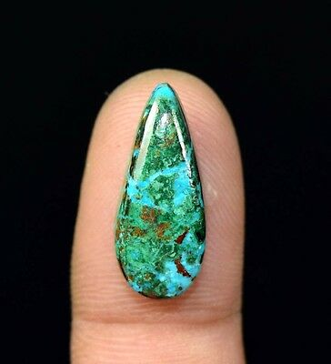 Rare 10.20 Cts. 100% Natural Chrysocolla Pear Cab Loose Gemstones Ladylucklovers