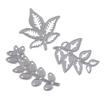 3pcs Metal Cutting Dies Stencil Leaves for Photo Album Embossing Paper Craft