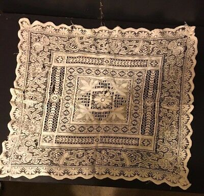 Antique Victorian Lace Table Cover Doily