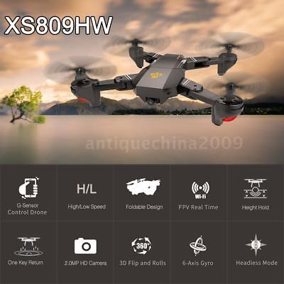 VISUO XS809HW Wifi FPV 2MP Selfie RC Quadcopter Drone Toy W/Extra 2 Battery Z5C2