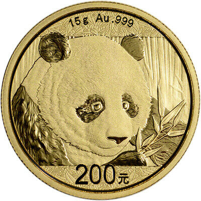 2018 China Gold Panda 15 g 200 Yuan - BU - Mint Sealed