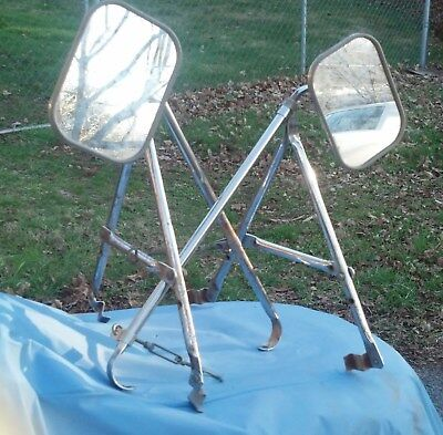 Pair of Vintage Truck Camper RV Universal Type Towing Mirrors