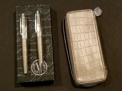 Things Remembered Vintage Engrave-able Faux Croc penset with case