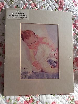 Hallmark Matted Print NEW 8x10 A Baby Lives Here Now Poem Gift FREE SHIPPING