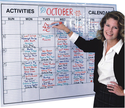 Dry Erase Calendar for Wall Giant Whiteboard Big Planner Reusable Events NEW
