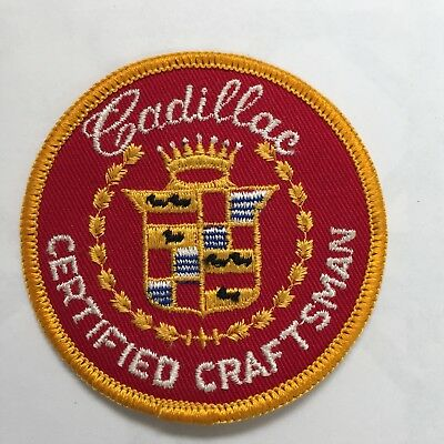 Cadillac Certified Craftsman Embroidered Patch 1970s Vintage