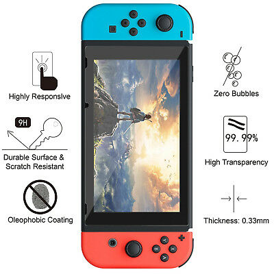 Premium Tempered Glass Screen Protector for Nintendo Switch (1/2/3 PACK)