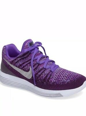 san francisco 9f110 e092d NIKE Kids LunarEpic Low FlyKnit 2 (GS) Running Shoes US 2 -3