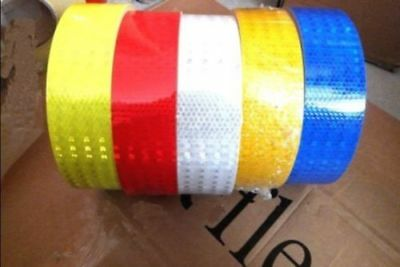 """Film Sticker Silver Red 1M 2"""" 5cm Reflective Safety Warning Conspicuity Tape"""