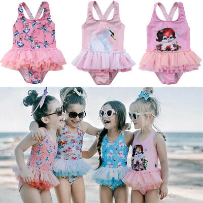 Kid Baby Girl Tulle Tutu Dress Skirt Swimwear Swimsuit Bathing Suit Beachwear