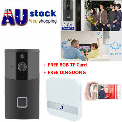 Wireless Smart Doorbell, HD Wifi Security Camera Real Time Video , 8G ,Dingdong