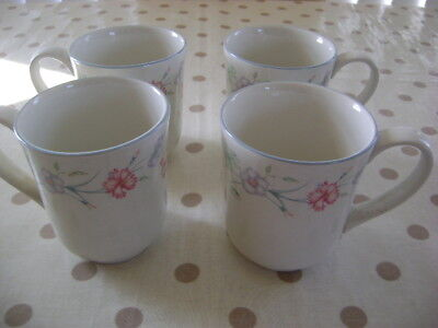 Boots Carnation Unused Set Of 4 Mugs    Boxed