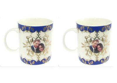 2 x Mugs Prince Harry And Meghan 2018 Royal Wedding - Mugs