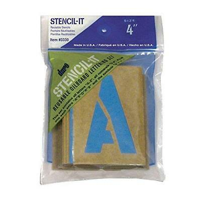 "Large Alphabet Stencils Letters 4"" Stencil Oil Board Numbers Symbols Reusable"